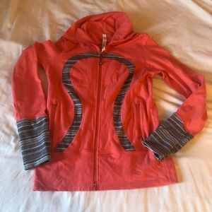 Lululemon Scuba Zip Up Light Jacket Sweater Peach